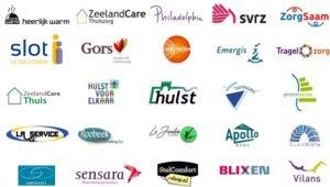 Overzicht van de logos van zorgbalie partners