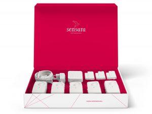 open doos met Sensara sensoren