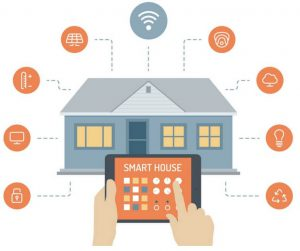 plaatje van tablet met huiscontrole
